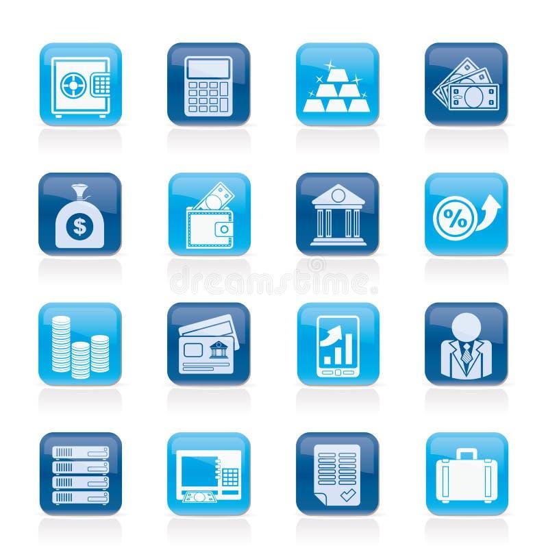 Icone di finanze e della Banca illustrazione di stock