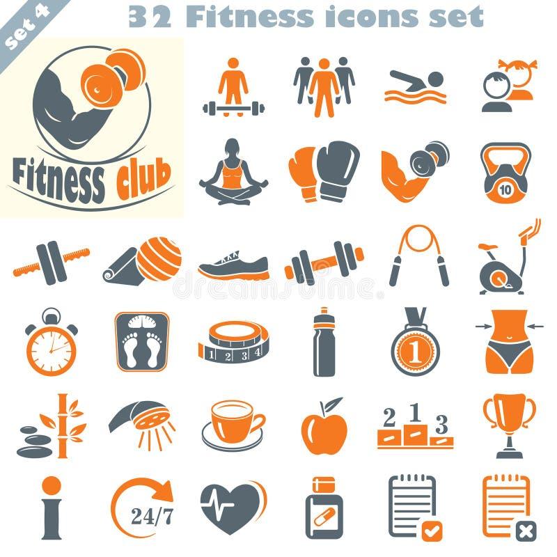 Icone di forma fisica messe (4) fotografie stock