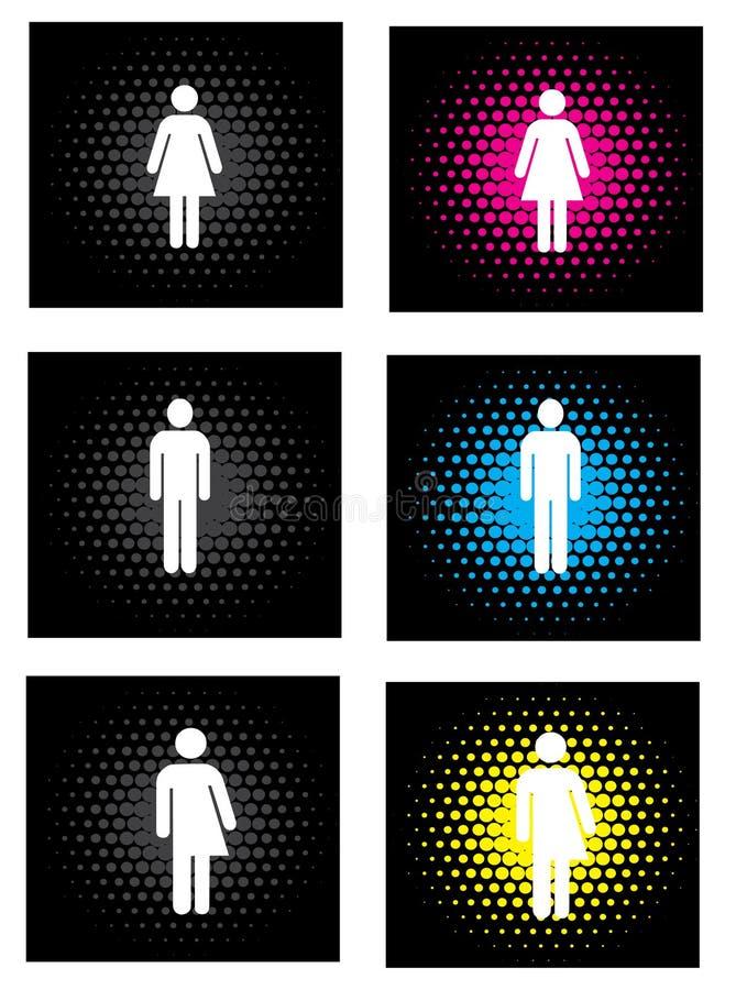 Icone di genere royalty illustrazione gratis