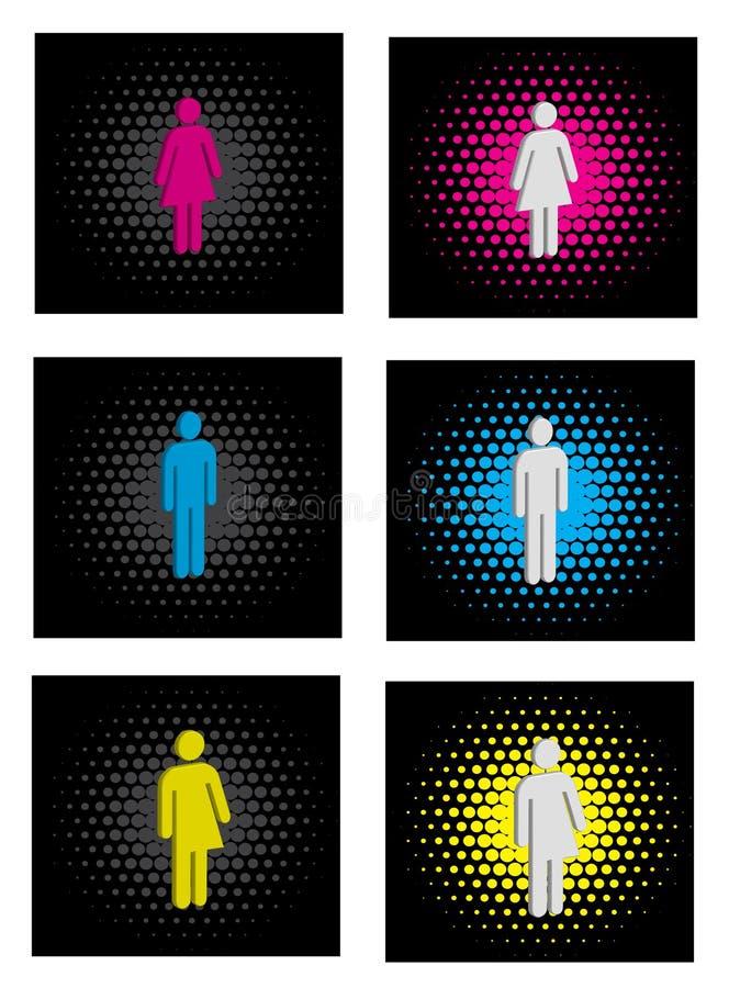 Icone di genere illustrazione vettoriale