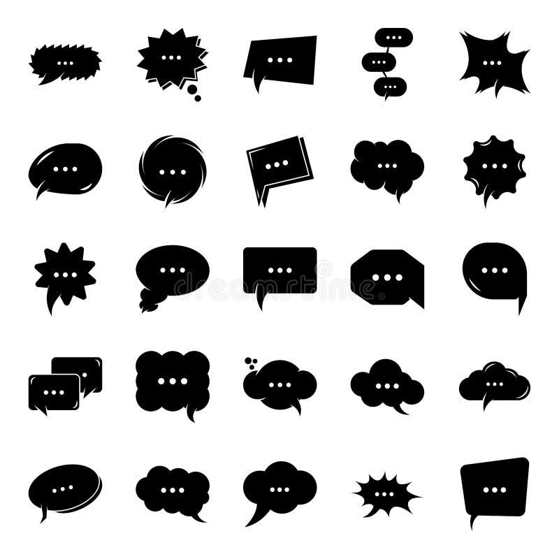 Icone di Glyph Chat Chat Della Bolla Del Pensiero royalty illustrazione gratis