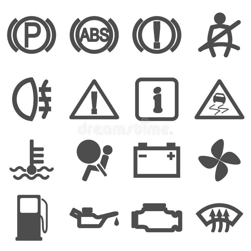 Icone di guida di veicoli illustrazione di stock