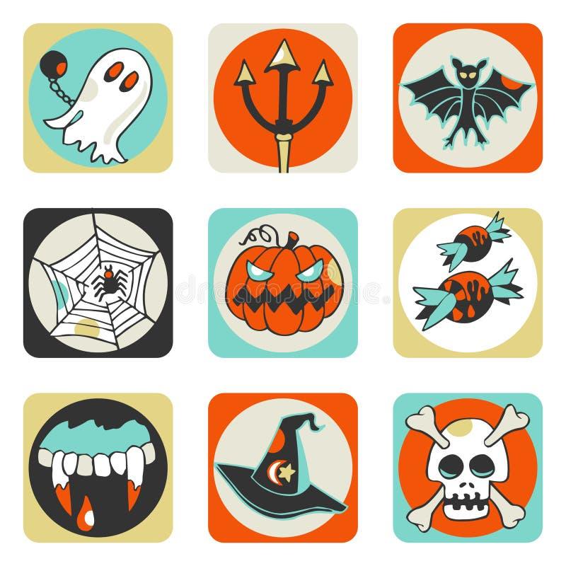 Icone di Halloween illustrazione di stock