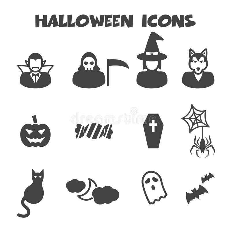 Icone di Halloween illustrazione di stock