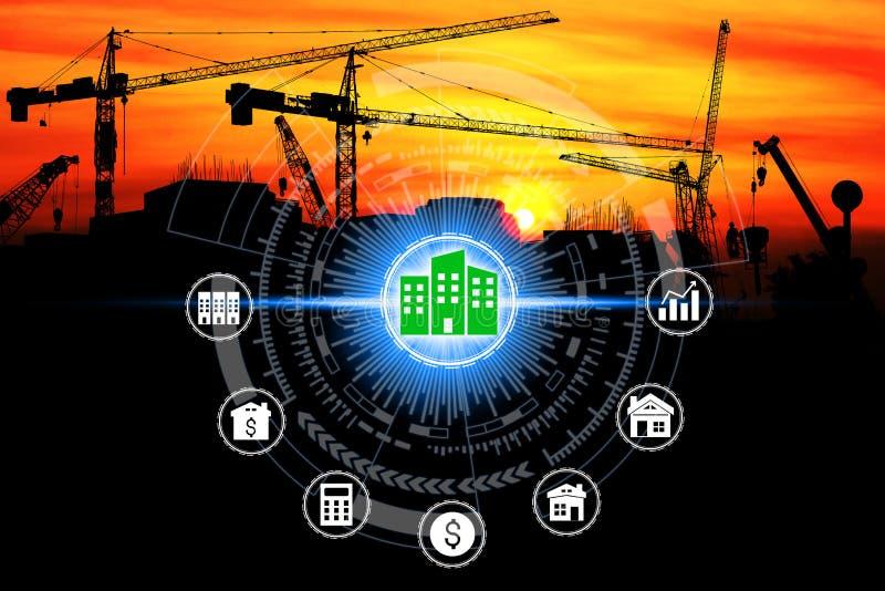 Icone di investimento della proprietà sulla rete immagini stock libere da diritti