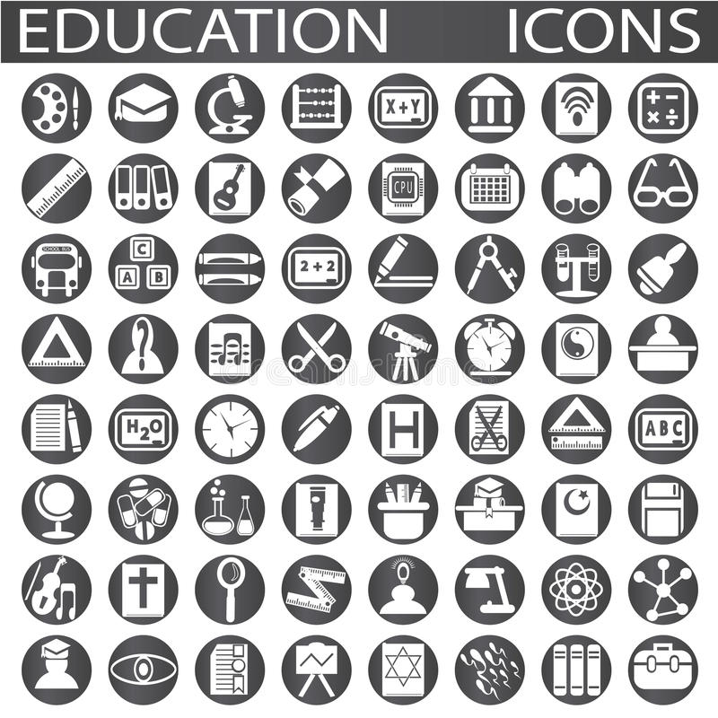 Icone di istruzione illustrazione di stock