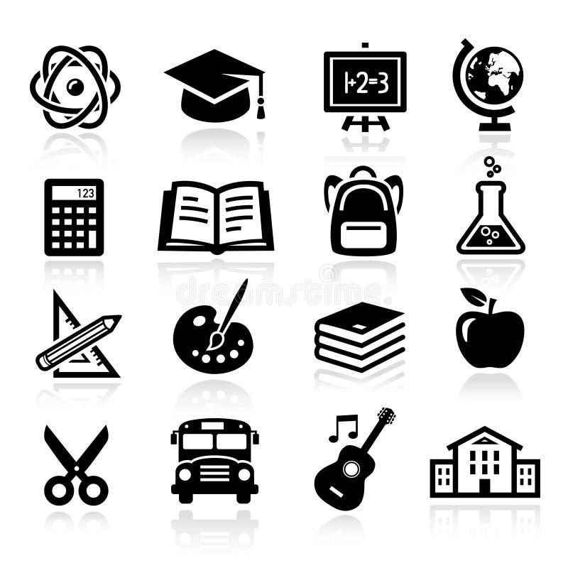 Icone di istruzione royalty illustrazione gratis