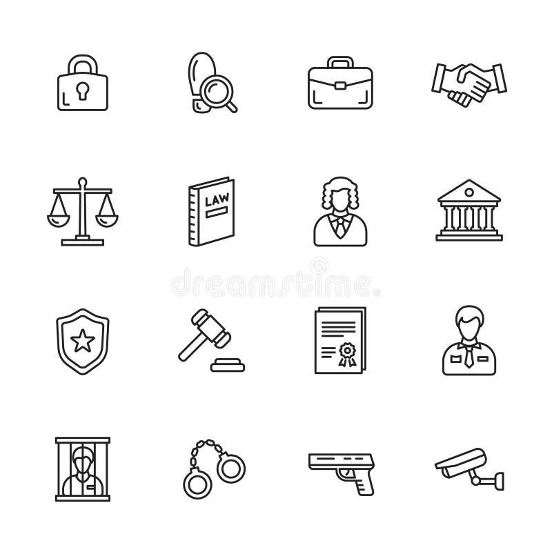 Download Icone di legge illustrazione vettoriale. Illustrazione di serratura - 56891114