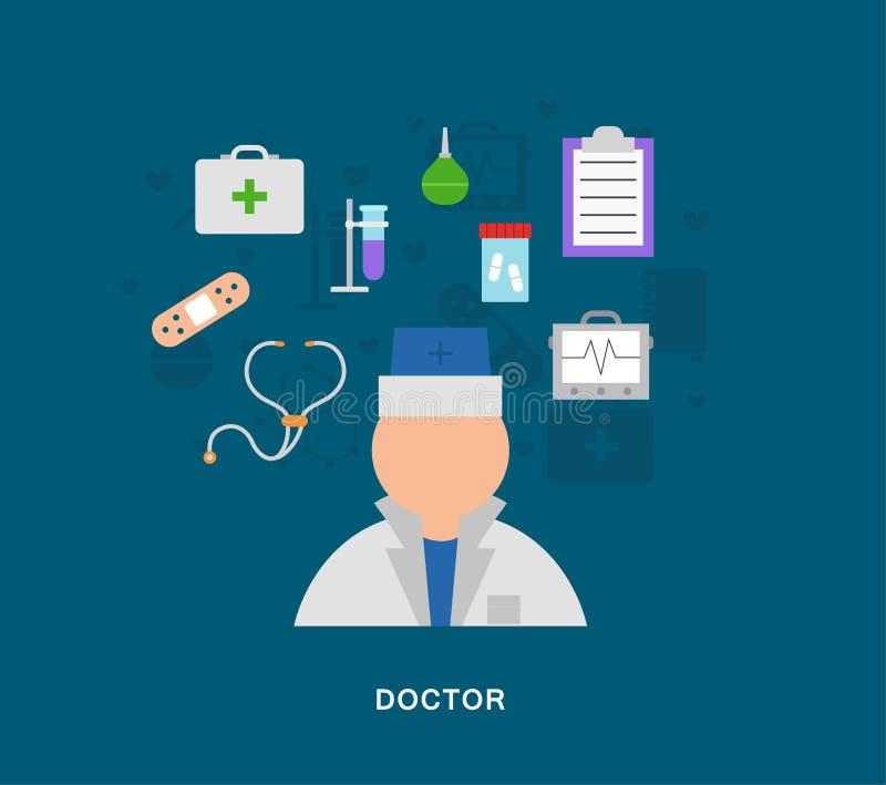 Icone di medico di Medecal illustrazione vettoriale