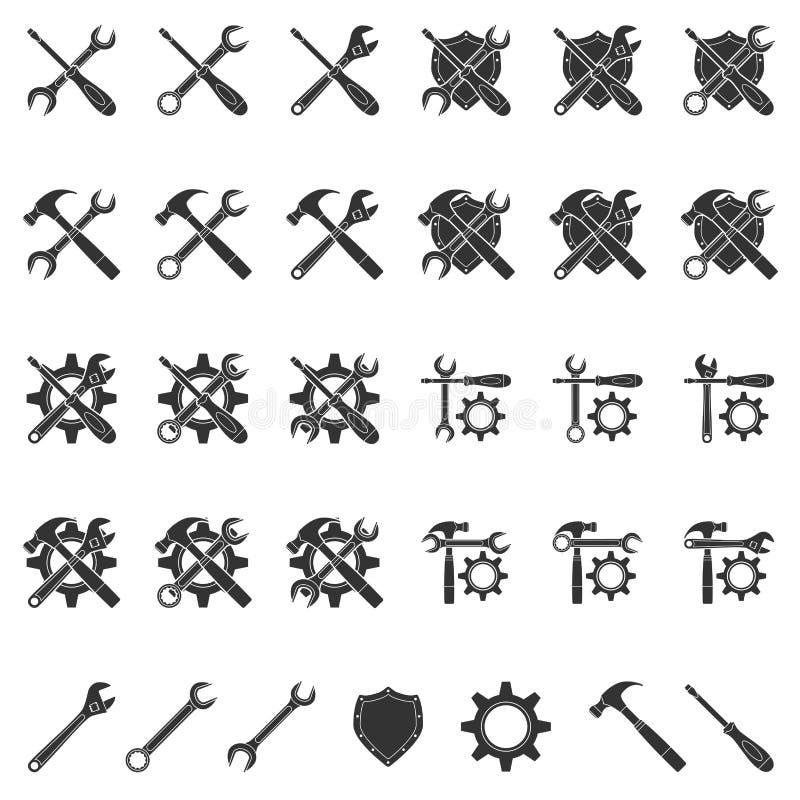 Icone di messa a punto illustrazione vettoriale