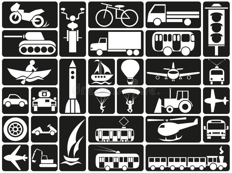 Icone di modalità di trasporto illustrazione di stock