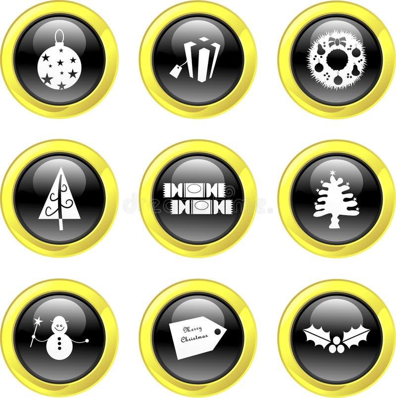 Icone di natale illustrazione di stock