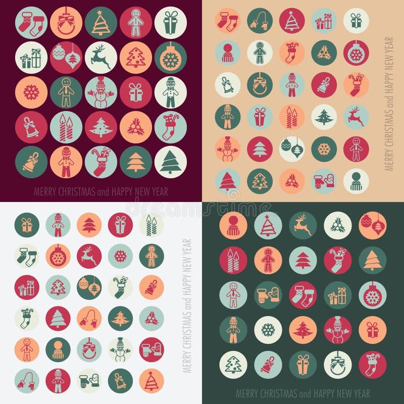 Icone di natale impostate royalty illustrazione gratis