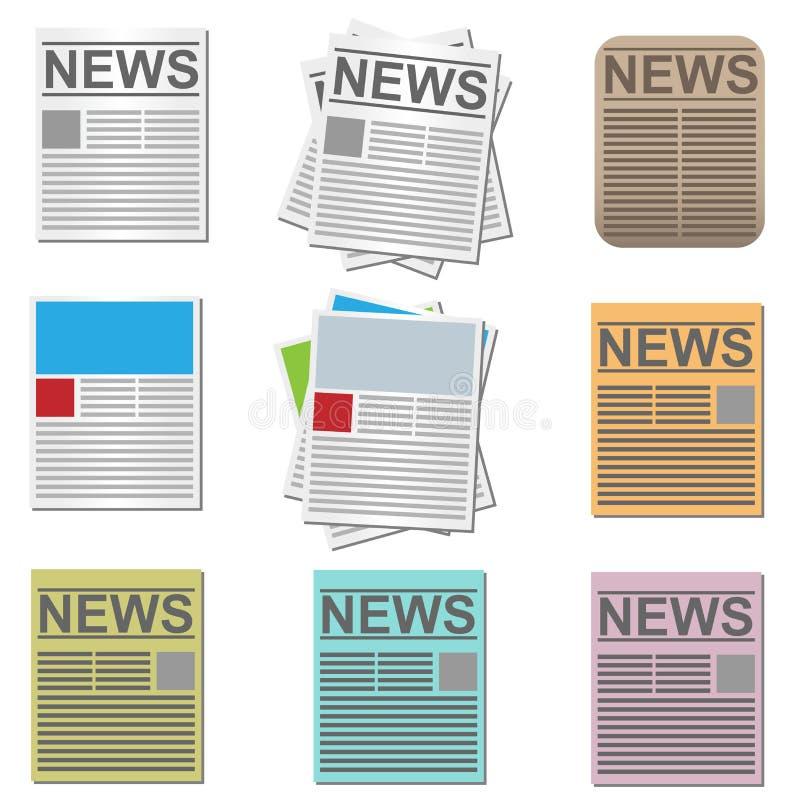 Icone di notizie illustrazione vettoriale