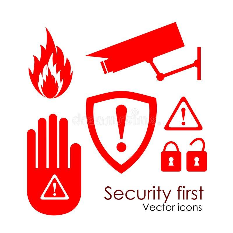 Icone di obbligazione illustrazione vettoriale
