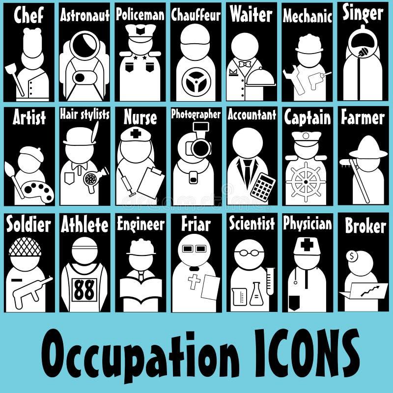 Icone di occupazione illustrazione di stock