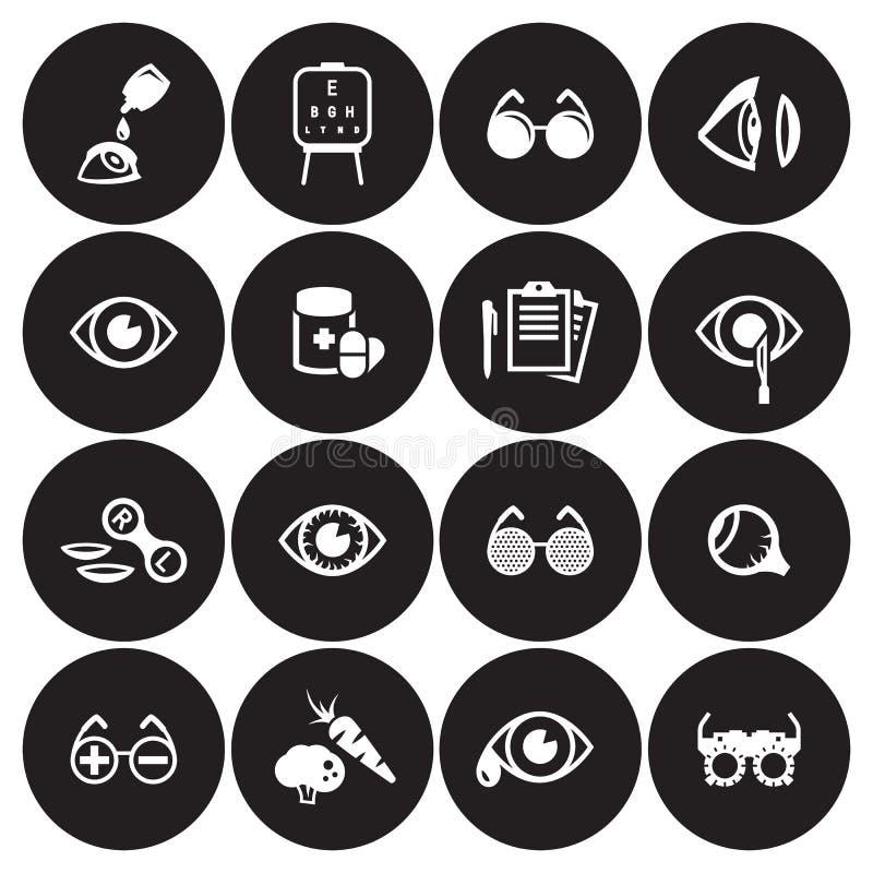Icone di optometria messe royalty illustrazione gratis