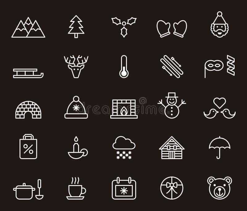 Icone di orario invernale illustrazione vettoriale