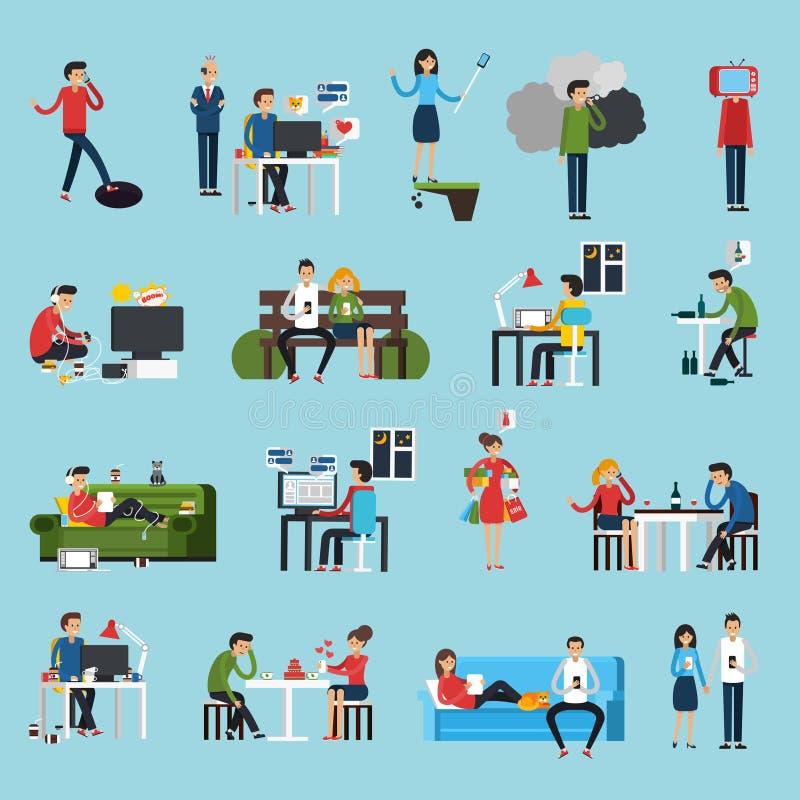 Icone di ossessioni messe royalty illustrazione gratis