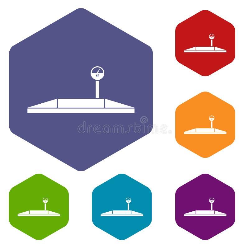 Download Icone Di Parcheggio Delle Scale Messe Illustrazione Vettoriale - Illustrazione di tester, scala: 117978872