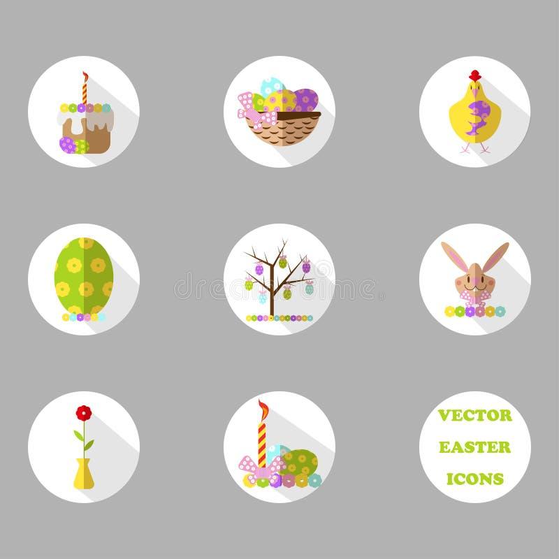 Icone di Pasqua messe royalty illustrazione gratis