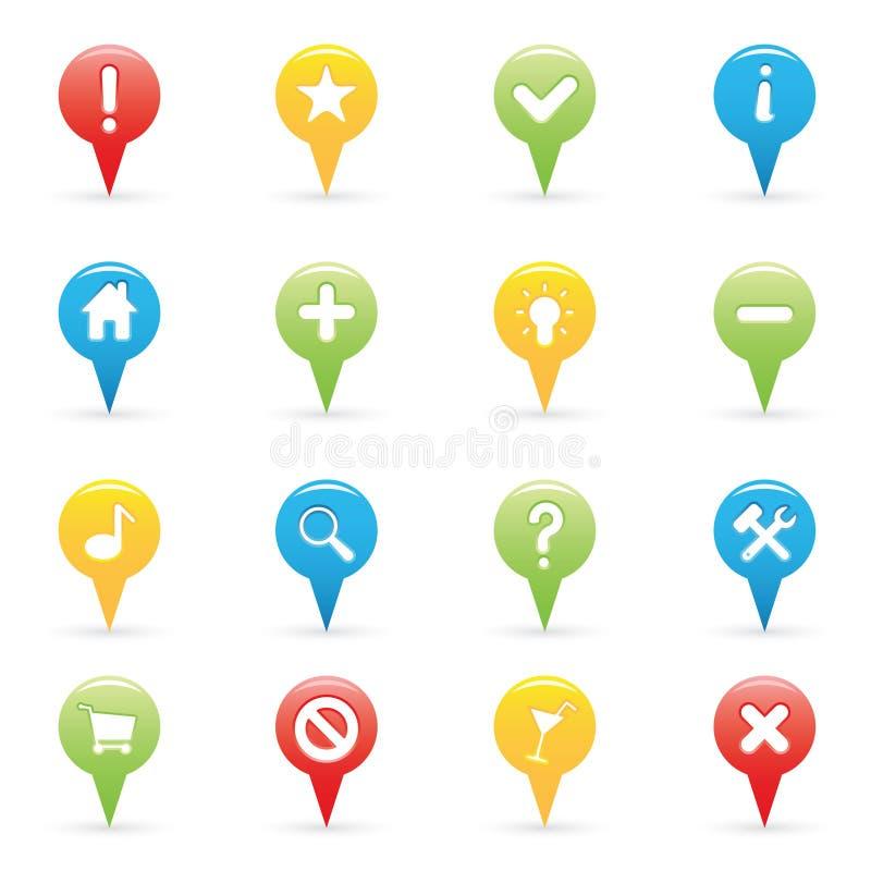 Icone di percorso illustrazione vettoriale
