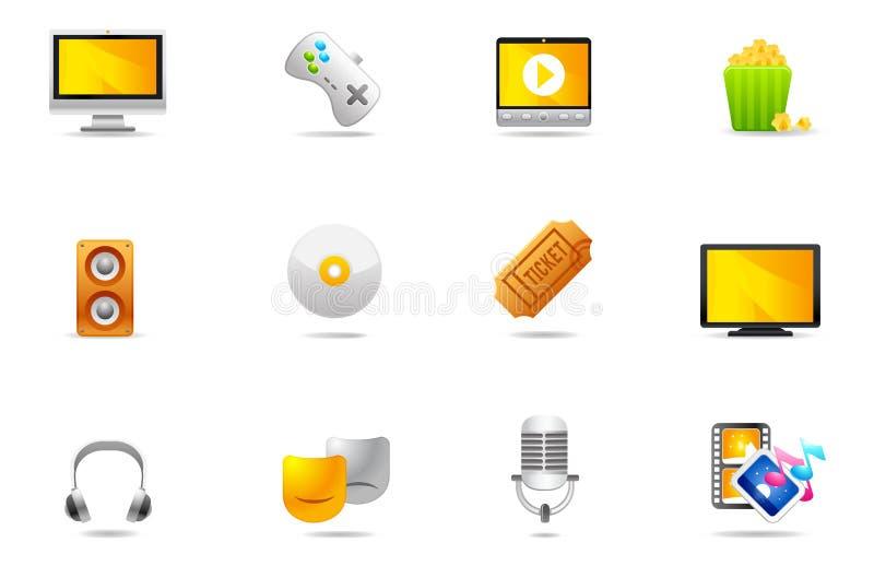 Icone di Philos - insieme 11 | Intrattenimento illustrazione di stock