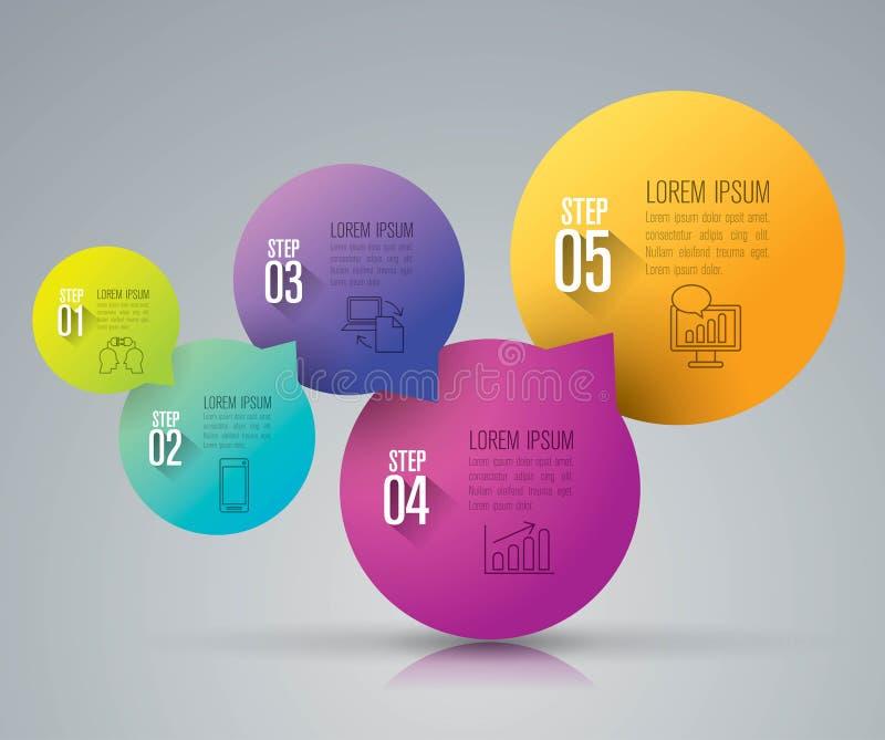 Icone di progettazione e di vendita di Infographic royalty illustrazione gratis