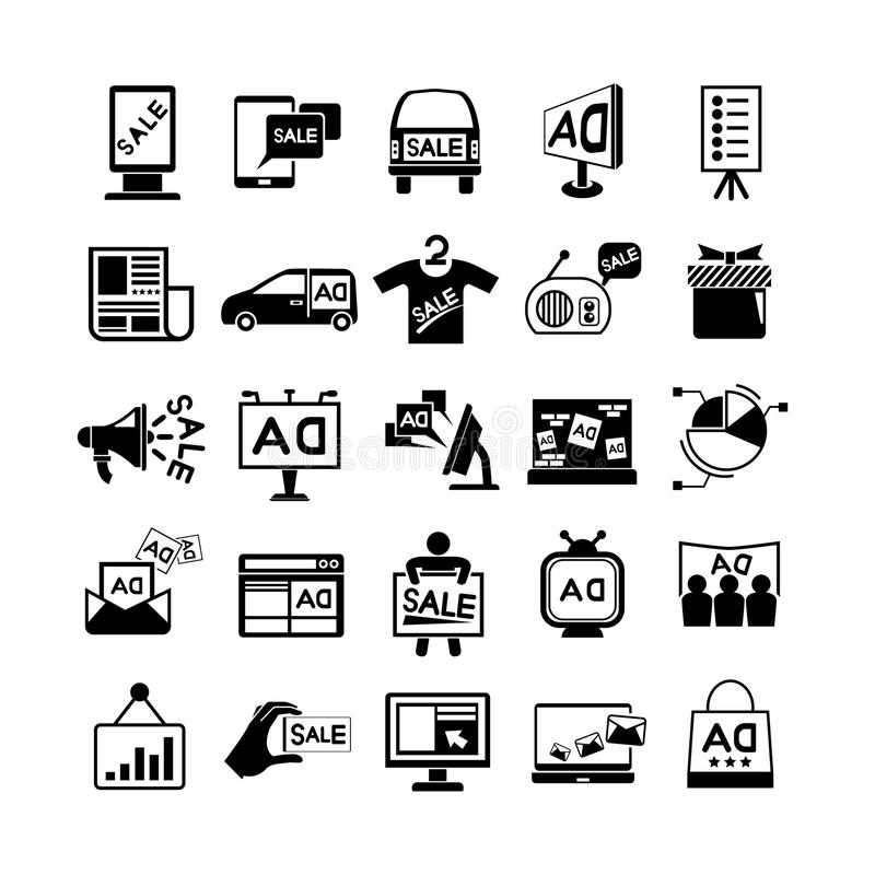 Icone di pubblicità royalty illustrazione gratis
