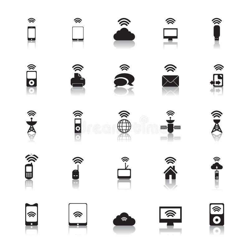 Vettore della radio delle icone di punto caldo illustrazione di stock