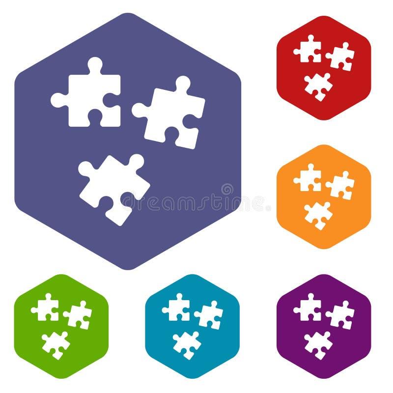 Download Icone di puzzle messe illustrazione vettoriale. Illustrazione di collegamento - 117979127