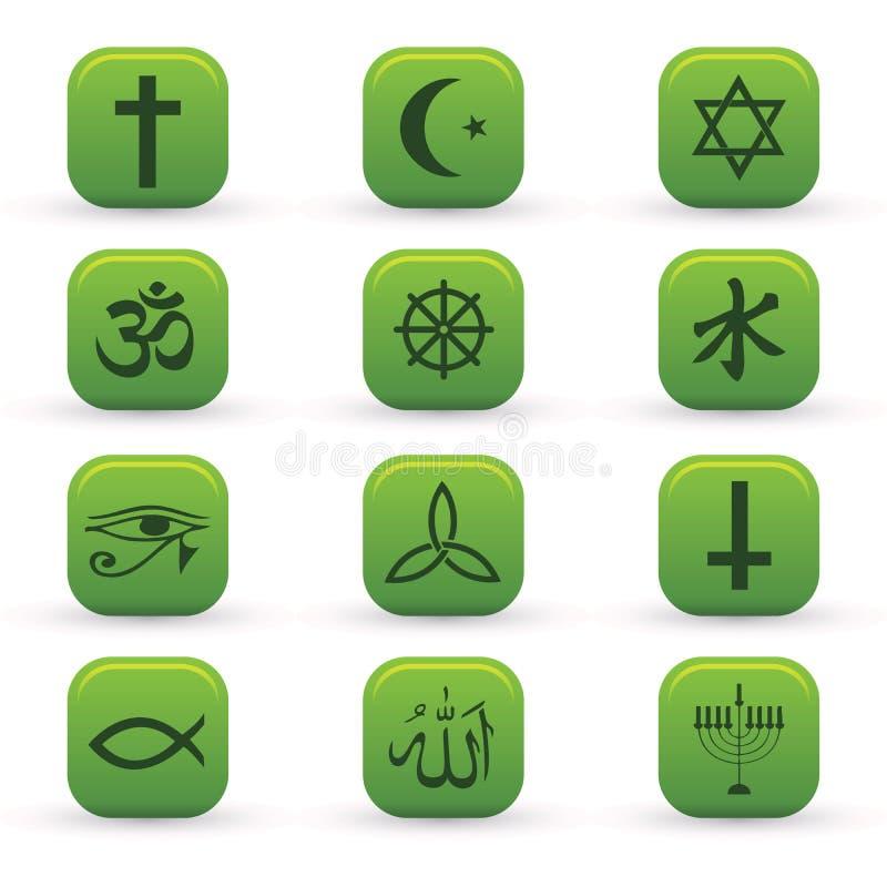 Icone di religione illustrazione di stock