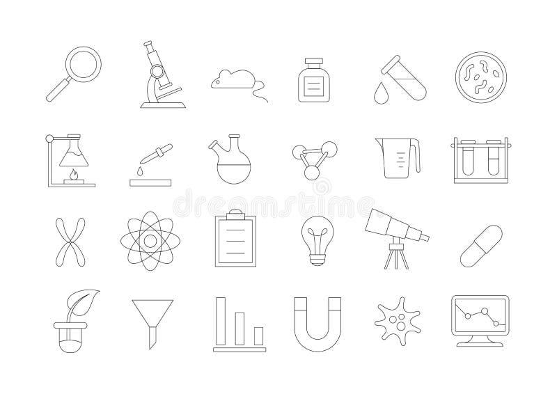 Icone di ricerca messe illustrazione vettoriale