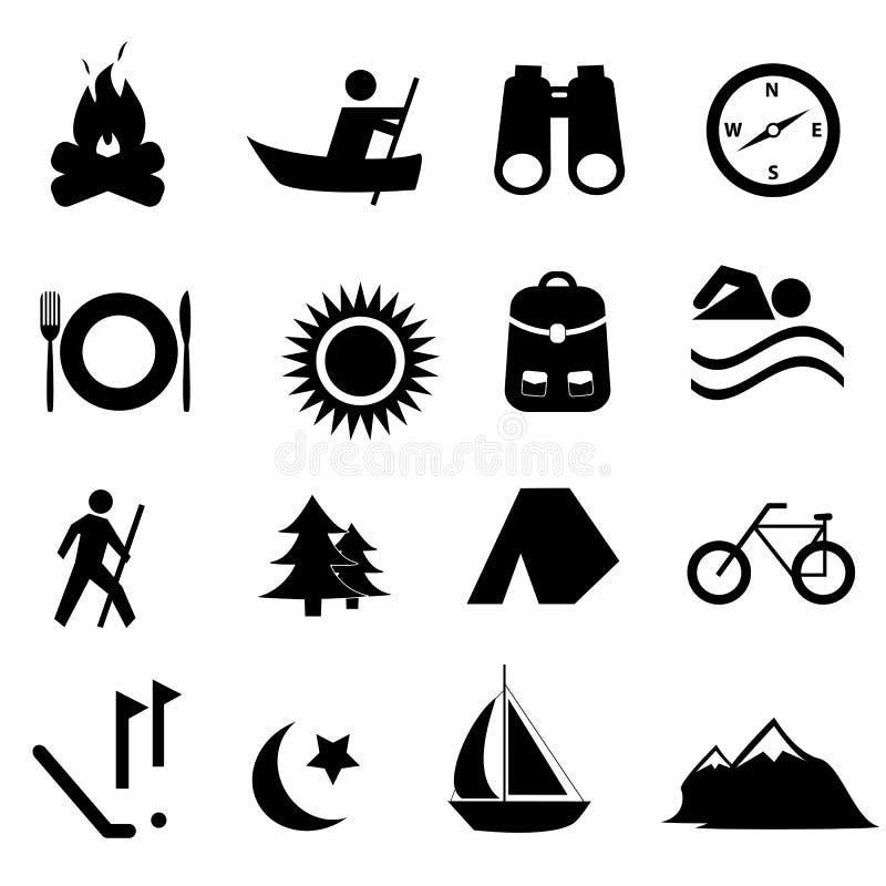 Icone di ricreazione e di svago illustrazione di stock