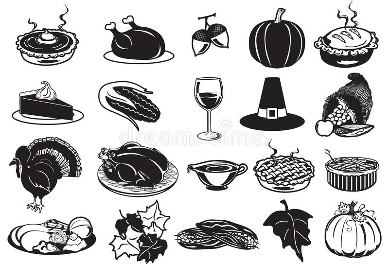 Icone di ringraziamento illustrazione di stock