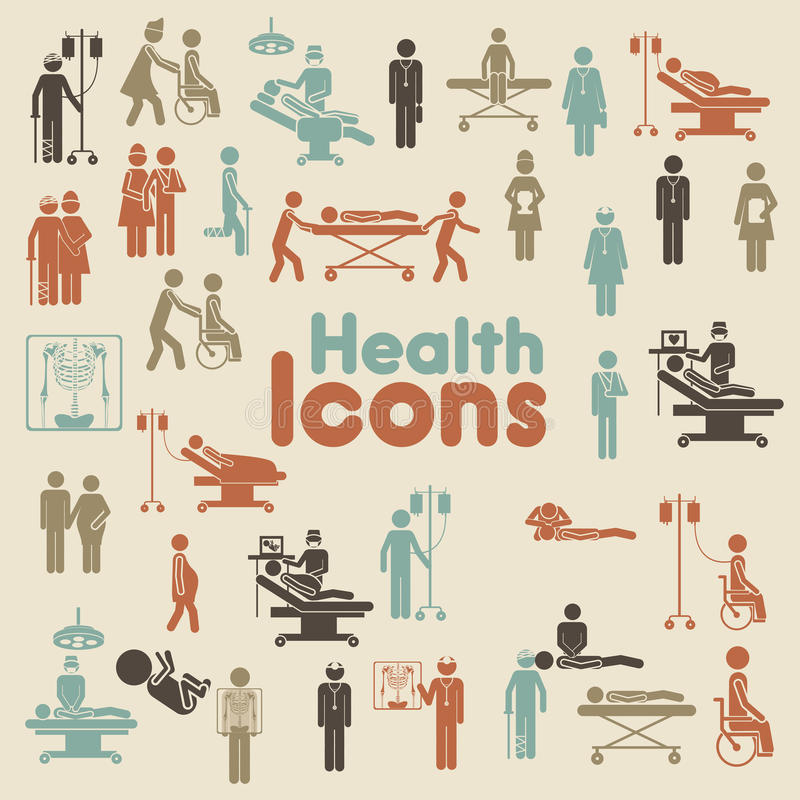 Icone di salute royalty illustrazione gratis