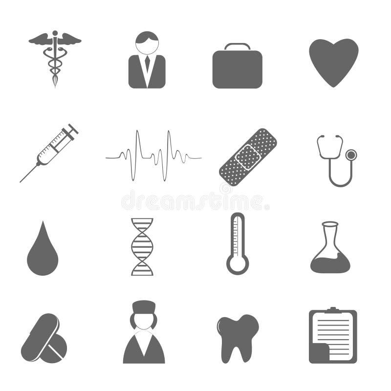 Icone Di Sanità Fotografia Stock