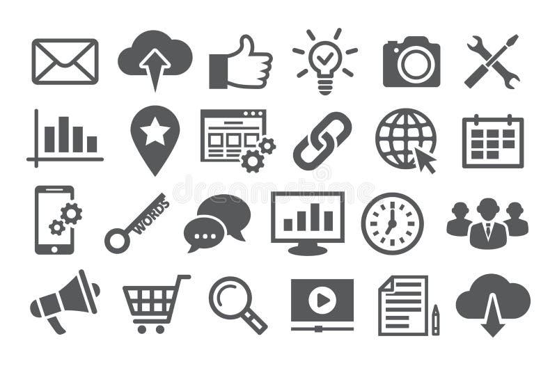 Icone di SEO illustrazione vettoriale