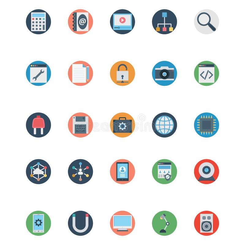 Icone di SEO Isolated Vector e di web che possono essere modificate o pubblicare facilmente royalty illustrazione gratis