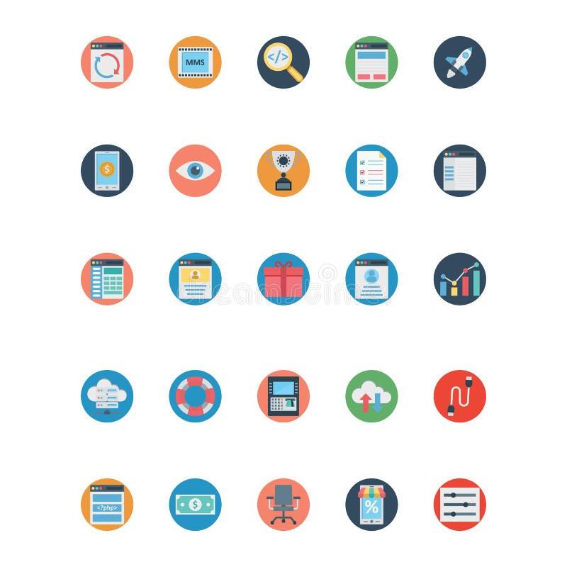 Icone di SEO Isolated Vector e di web che possono essere modificate o pubblicare facilmente illustrazione vettoriale