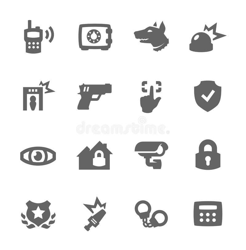 Icone di sicurezza royalty illustrazione gratis