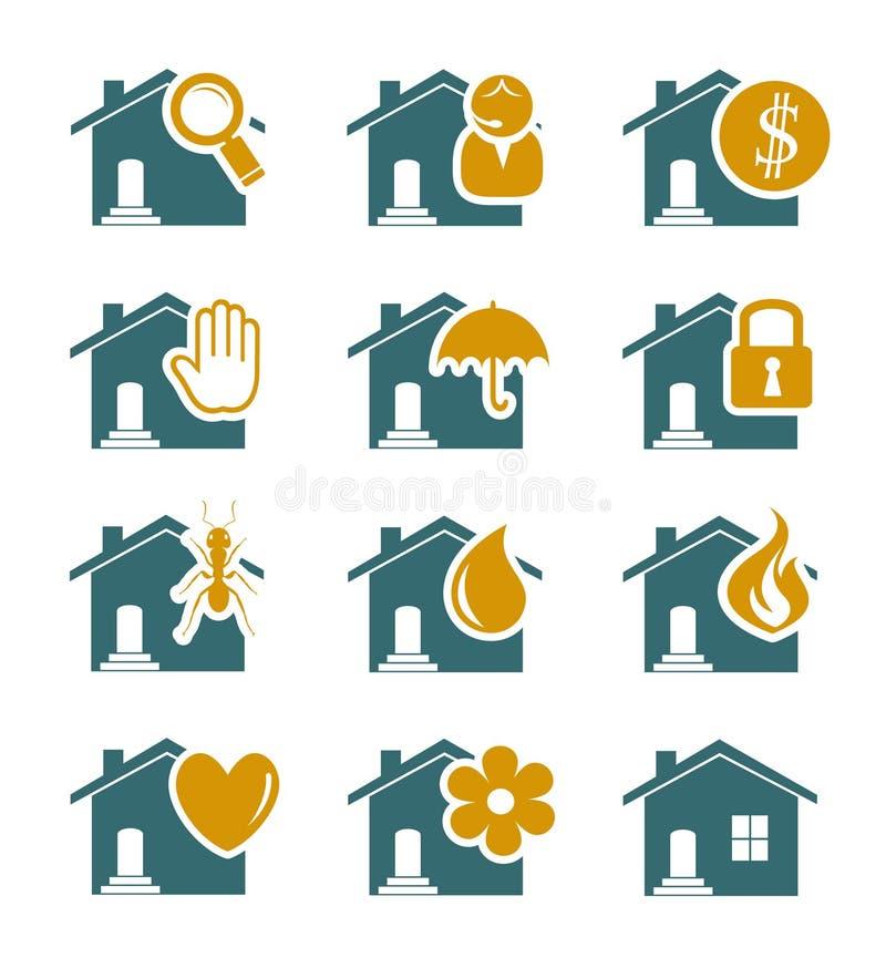 Icone di sicurezza e di servizio della Camera royalty illustrazione gratis