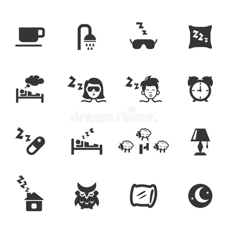 Icone di sonno royalty illustrazione gratis