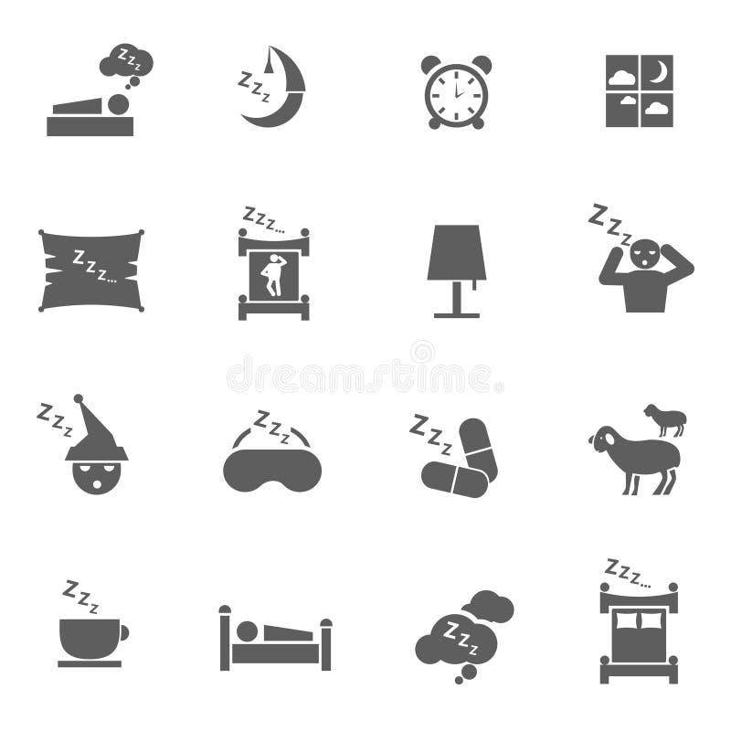 Icone di sonno illustrazione di stock