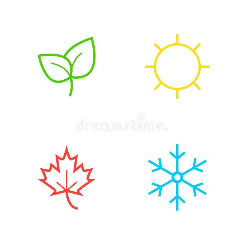 Icone di stagione di vettore illustrazione di stock
