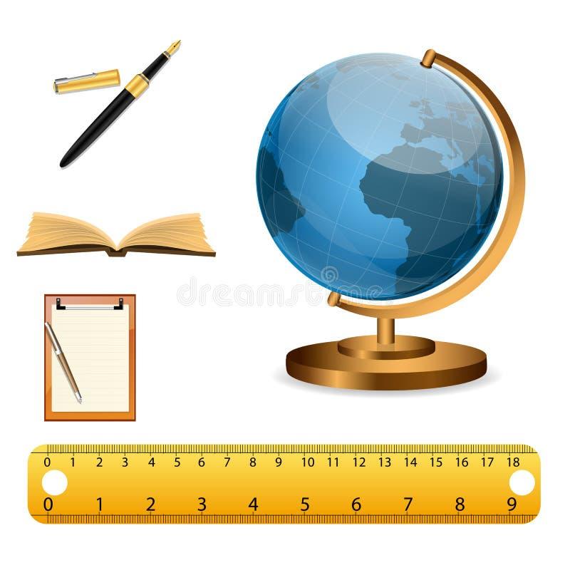 Icone di studio illustrazione vettoriale