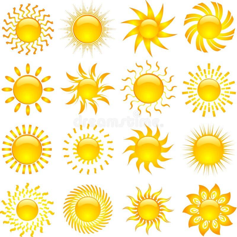 Icone di Sun illustrazione di stock