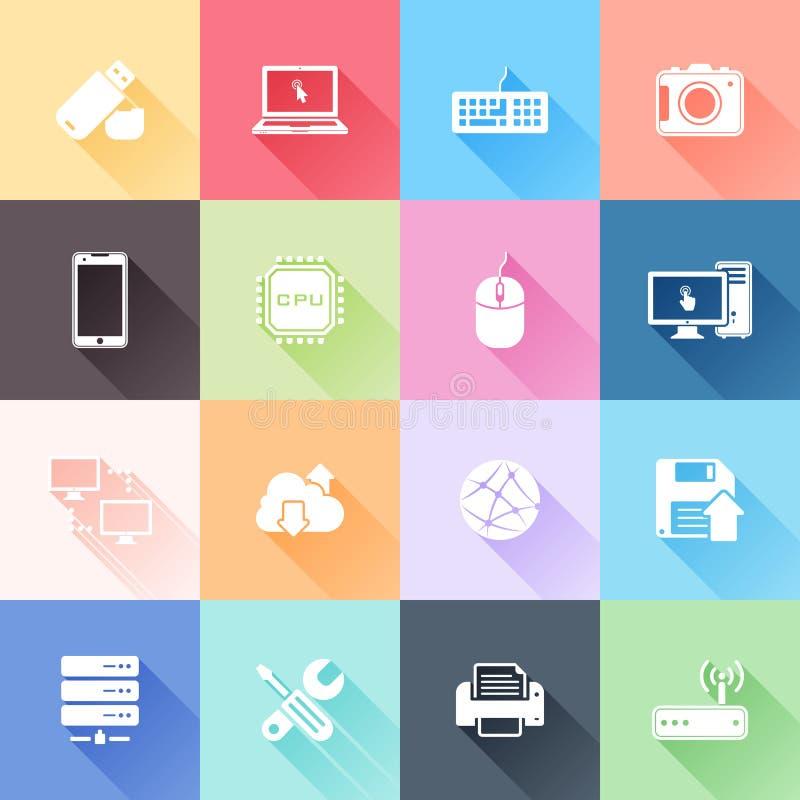 Icone di tecnologia illustrazione di stock