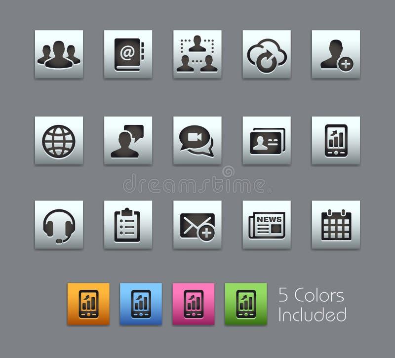 Icone di tecnologia di affari illustrazione di stock