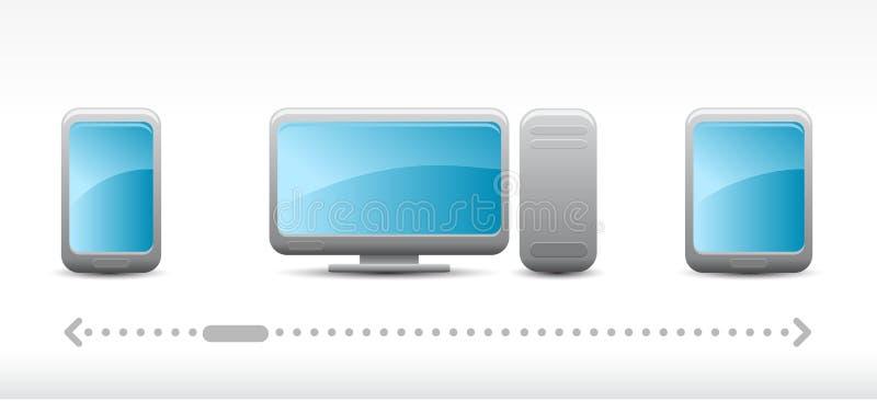 Icone di tecnologia di vettore illustrazione di stock